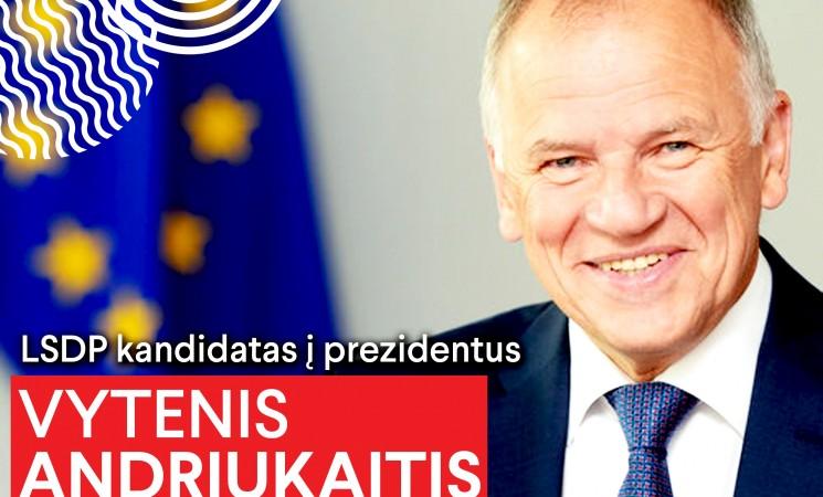 Socialdemokratų kandidatas į prezidentus – V. Andriukaitis