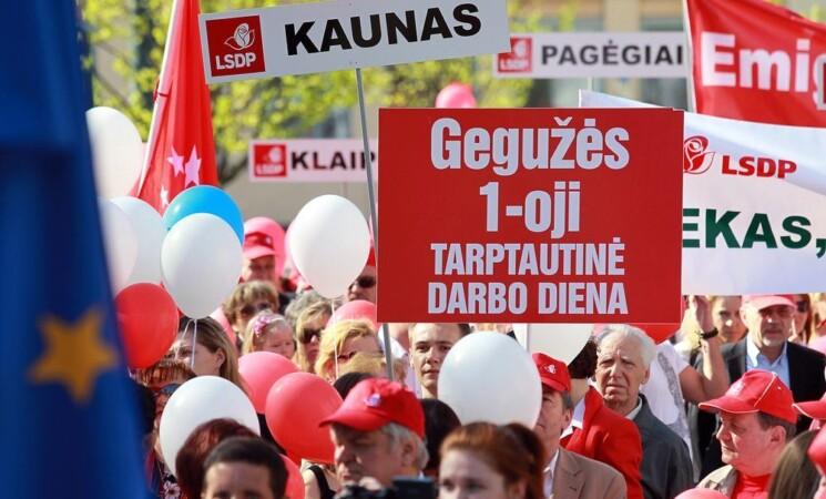 Kauno miesto socialdemokratai kartu su miestiečiais paminėjo Darbo šventę